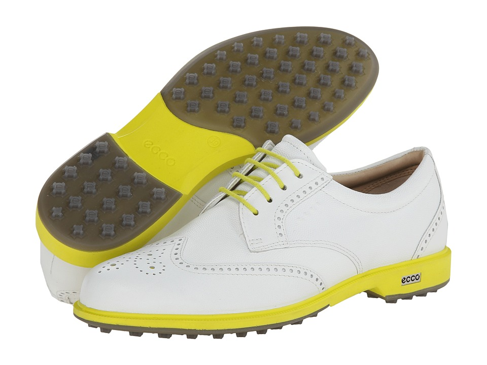 ECCO Golf - Classic Golf Hybrid (White/Suplhur/Pebble/Midsole) Women's Golf Shoes