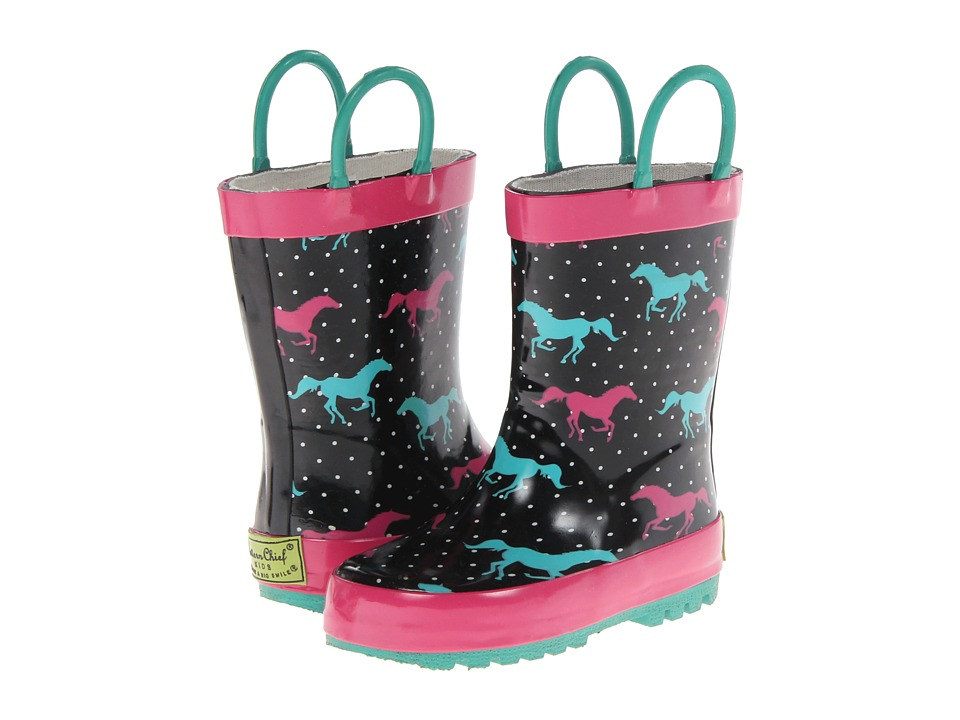 Western Chief Kids - Horse Sprint Rainboot (Toddler/Little Kid/Big Kid) (Black) Girls Shoes