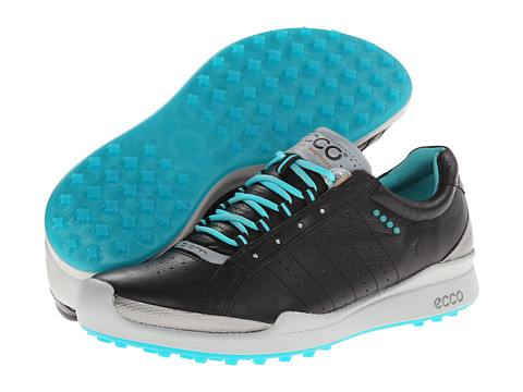 ECCO Golf - Biom Hybrid (Black/Turquoise) Women's Golf Shoes