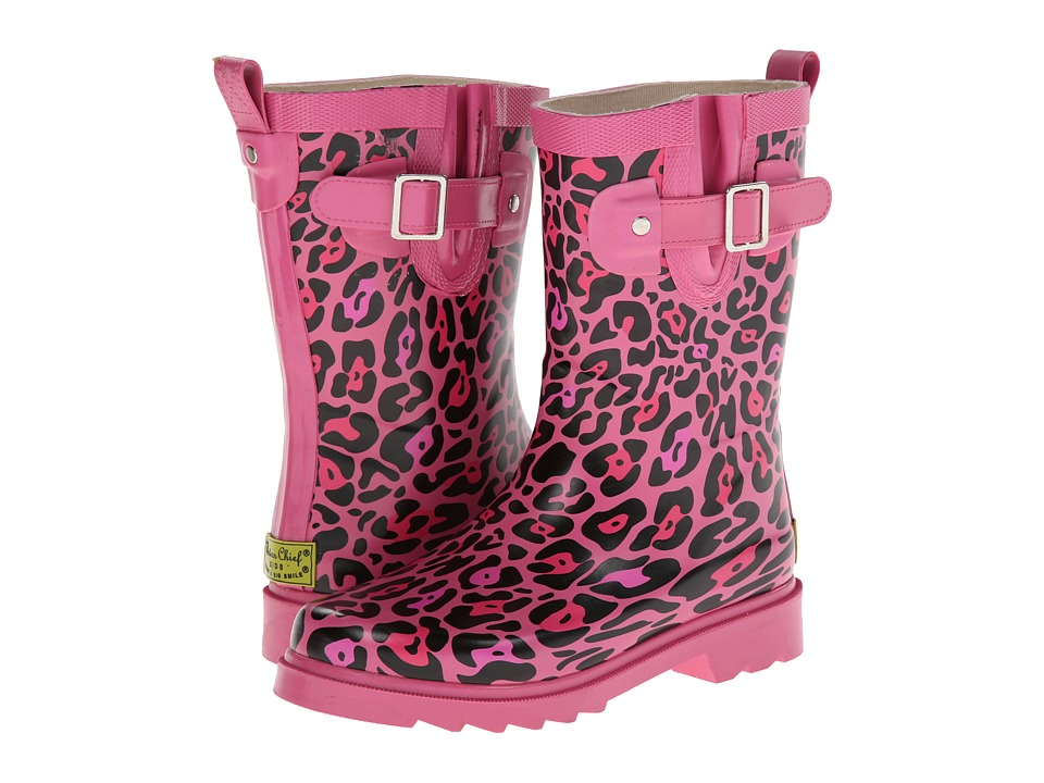 Western Chief Kids - Sparkle Leopard Buckle Rainboot (Toddler/Little Kid/Big Kid) (Pink) Girls Shoes