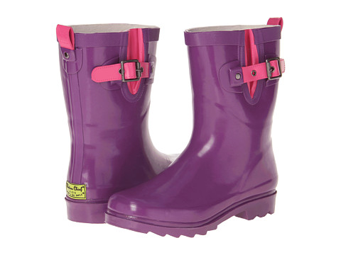 Western Chief Kids - Pop Solid Rainboot (Toddler/Little Kid/Big Kid) (Purple) Girls Shoes