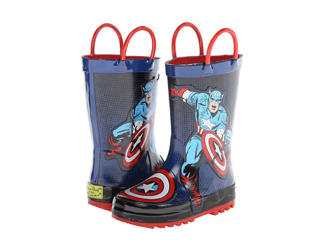 Western Chief Kids - Captain America Rainboot (Toddler/Little Kid/Big Kid) (Blue) Boys Shoes