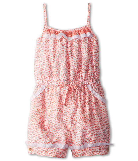 Oscar de la Renta Childrenswear - Geo Jumpsuit (Toddler/Little Kids/Big Kids) (Coral) Girl's Jumpsuit & Rompers One Piece