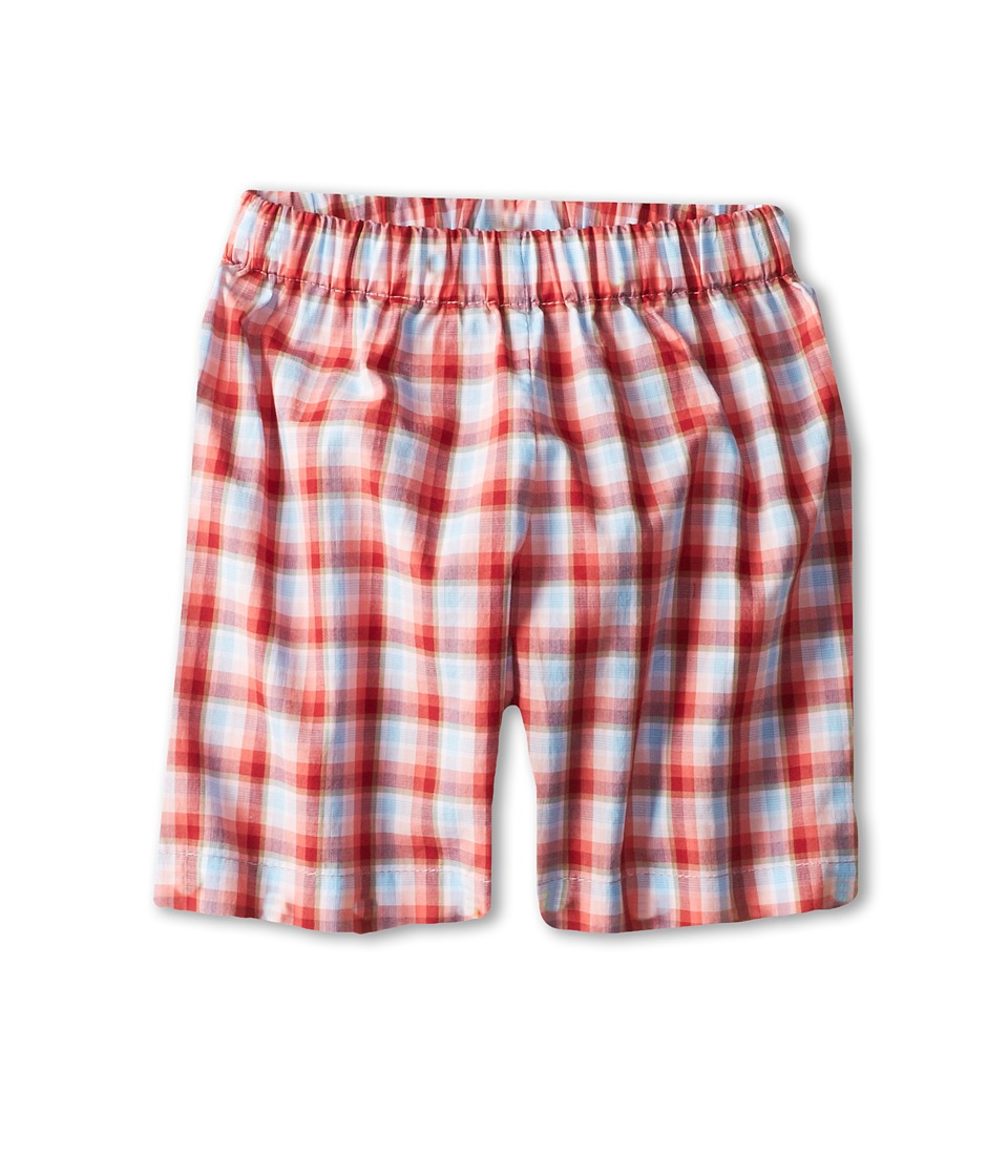 Oscar de la Renta Childrenswear - Check Shorts (Infant) (Turquoise/Coral) Boy's Shorts