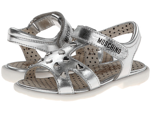 Moschino - 25425 (Toddler/Little Kid) (Silver) Women's Sandals