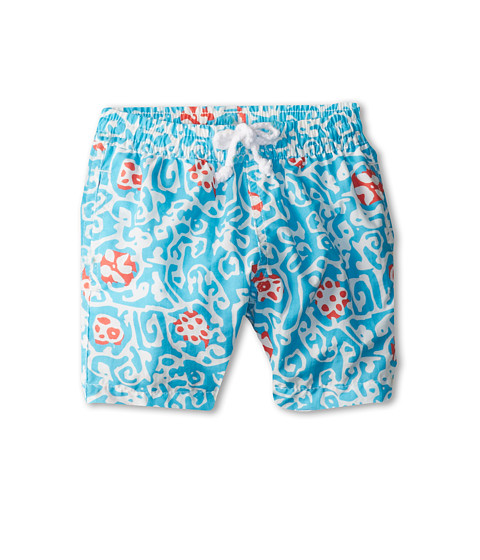 Oscar de la Renta Childrenswear - Abstract Geo Classic Swim Shorts (Infant) (Turquoise) Boy's Swimwear