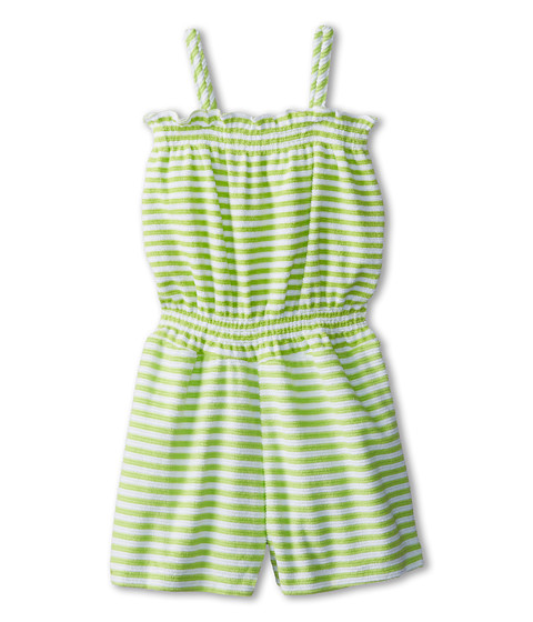 Oscar de la Renta Childrenswear - Terry Stripe Jumpsuit (Toddler/Little Kids/Big Kids) (Apple) Girl's Jumpsuit & Rompers One Piece