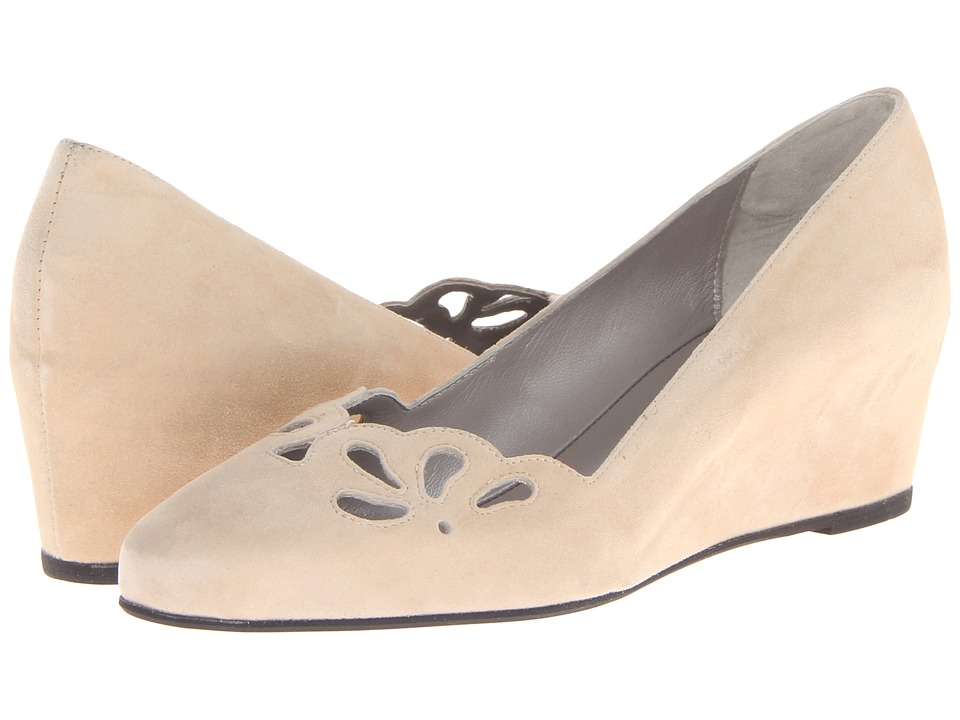 Aquatalia - Paris (Ecru Suede) Women's Wedge Shoes