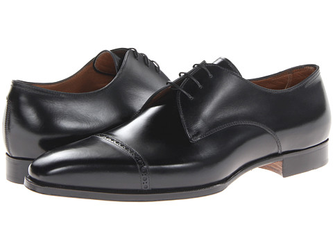 Gravati - Perforated Cap Toe Oxford (Black) Men's Shoes