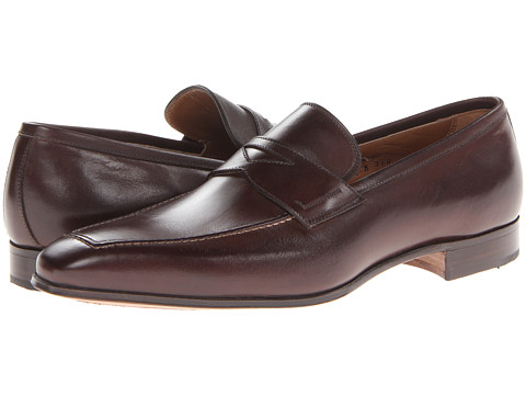Gravati - Penny Loafer with Top Stitching (Dark Brown) Men