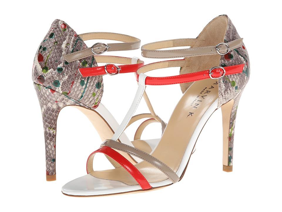 Aquatalia - Serena (Red/Taupe Combo) High Heels