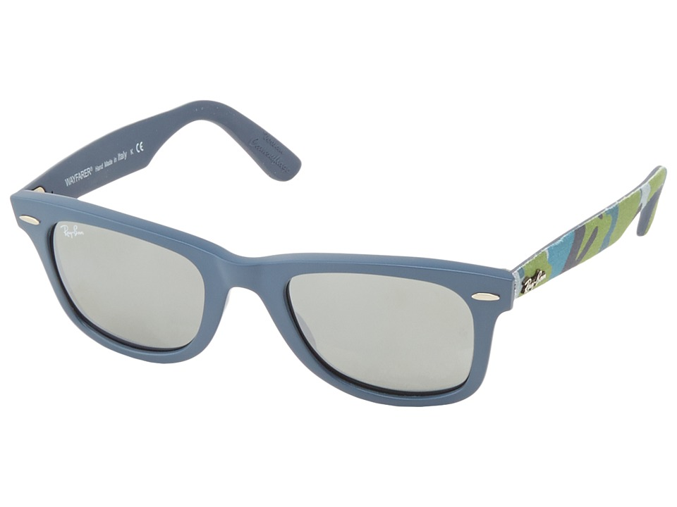 Ray-Ban - RB2140 Original Wayfarer Urban Camouflage 50mm (Matte Blue) Fashion Sunglasses
