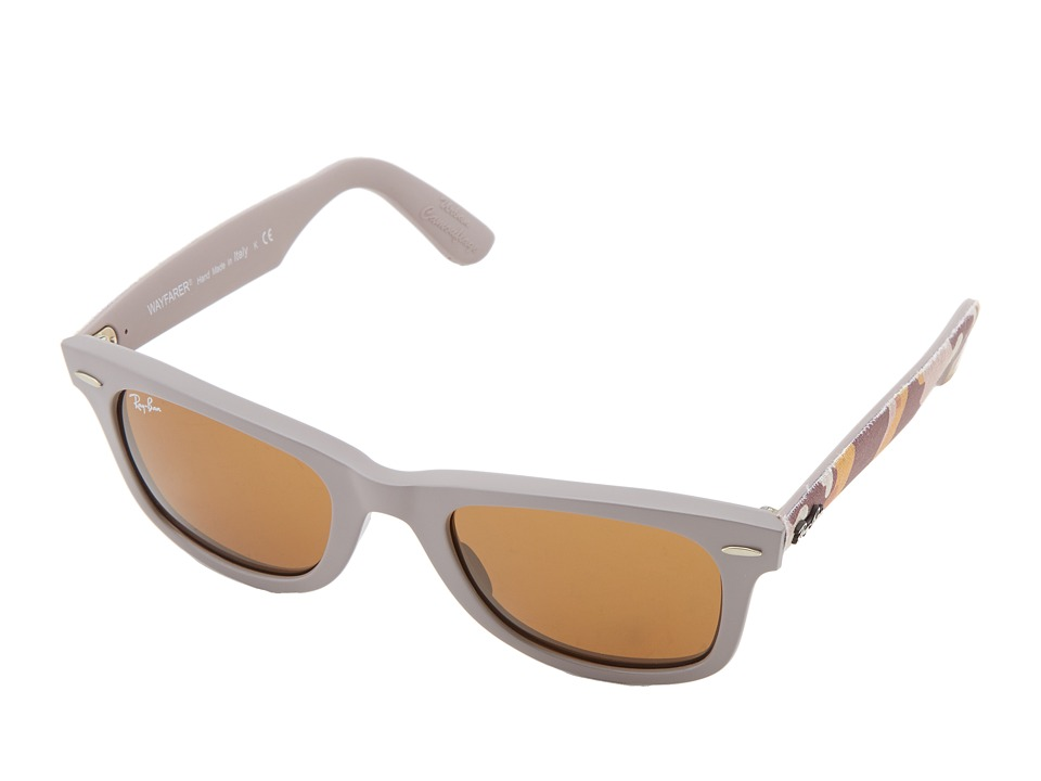 Ray-Ban - RB2140 Original Wayfarer Urban Camouflage 50mm (Matte Beige) Fashion Sunglasses