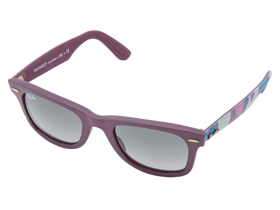 Ray-Ban - RB2140 Original Wayfarer Urban Camouflage 50mm (Matte Violet) Fashion Sunglasses