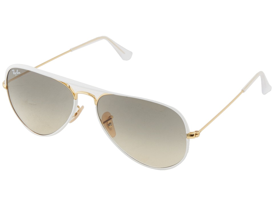 Ray-Ban - RB3025 Aviator 58mm (White) Fashion Sunglasses