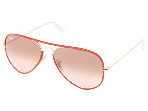 Ray-Ban - RB3025 Aviator 58mm (Red) Fashion Sunglasses
