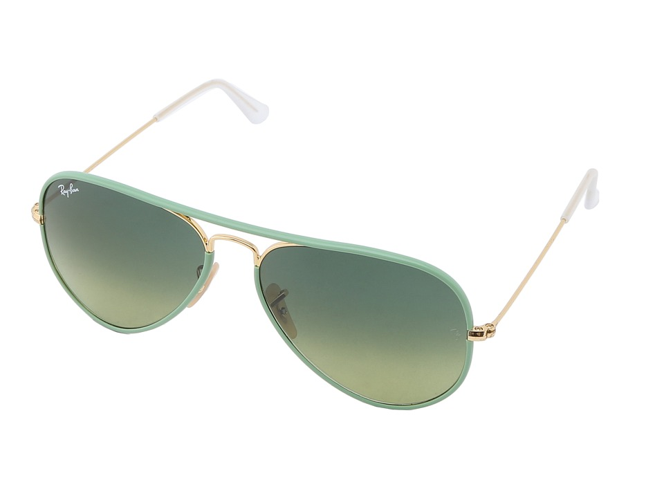 Ray-Ban - RB3025 Aviator 58mm (Green) Fashion Sunglasses
