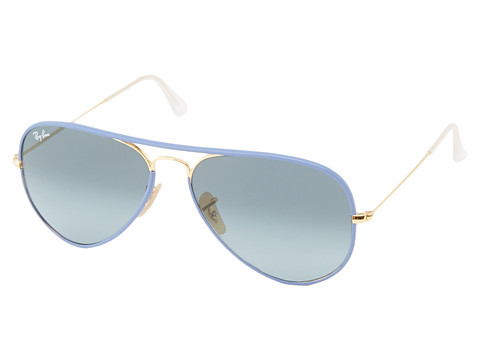 Ray-Ban - RB3025 Aviator 58mm (Light Blue) Fashion Sunglasses