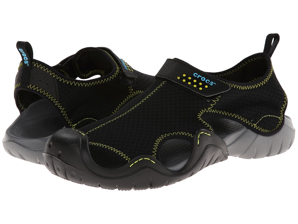 Crocs Swiftwater Sandal (Black/Charcoal) Men