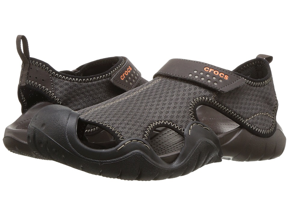 Crocs - Swiftwater Sandal (Espresso/Espresso) Men's Sandals