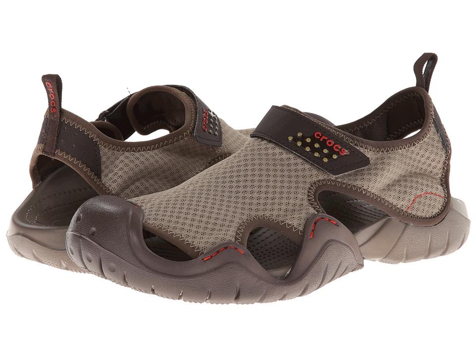 Crocs Swiftwater Sandal (Khaki/Walnut) Men