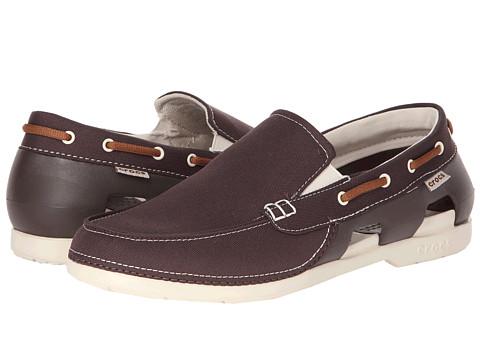 Crocs - Beach Line Boat Slip (Espresso/Stucco) Men's Shoes
