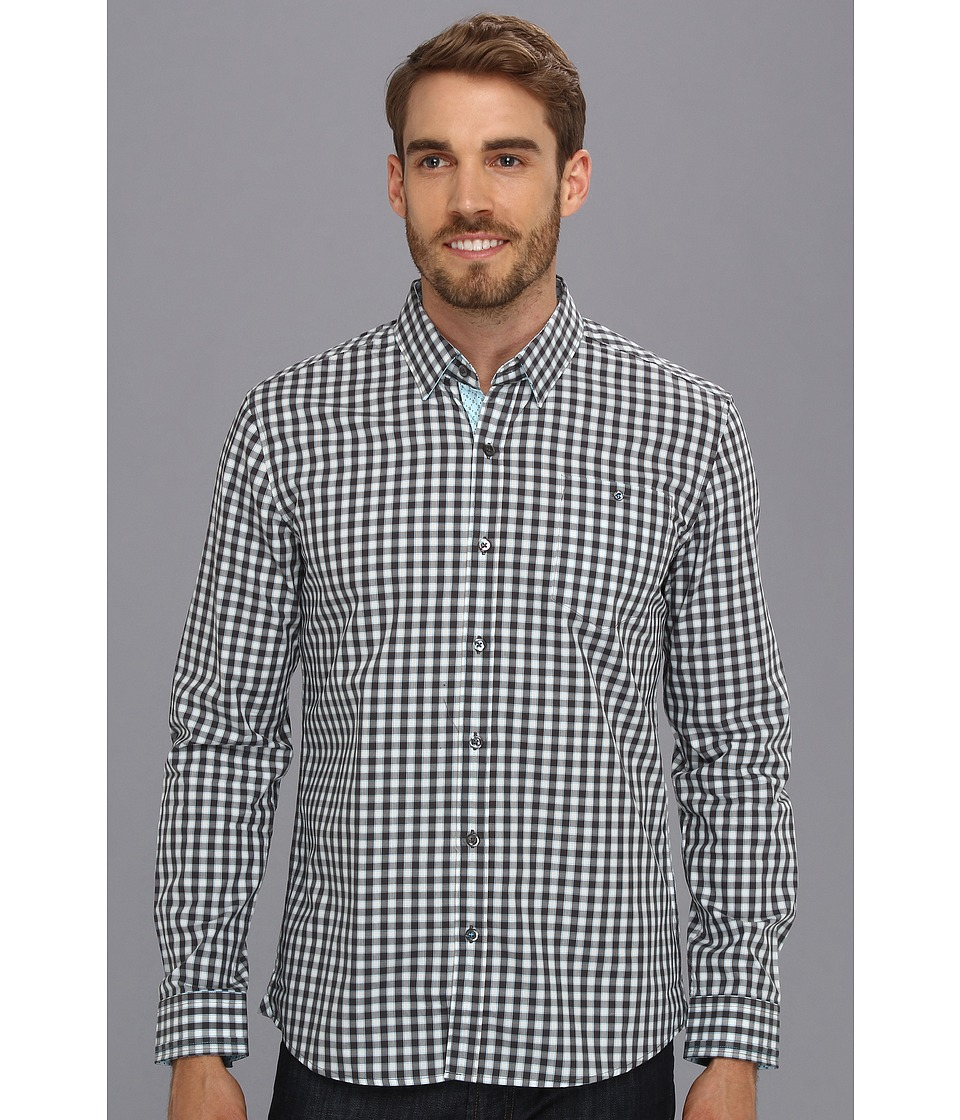 7 Diamonds - Policy Of Trust L/S Shirt (Charcoal) Men's Long Sleeve Button Up