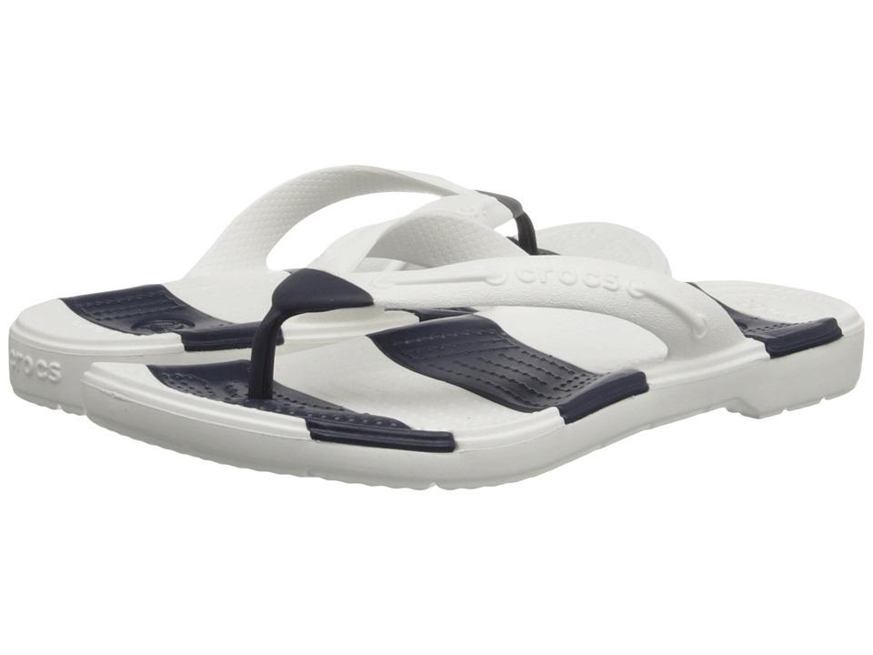 Crocs Beach Line Flip (Navy/White) Sandals