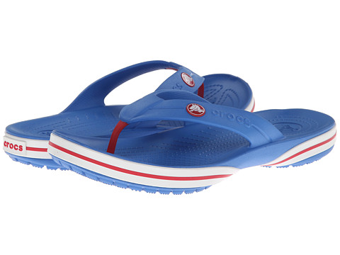 Crocs - Crocband X Flip (Varsity Blue/White) Sandals