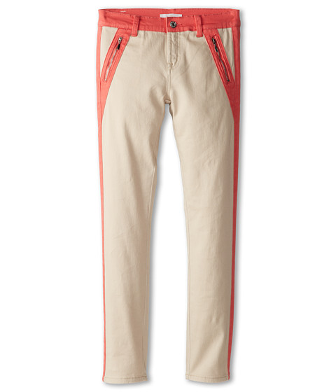 7 For All Mankind Kids - The Skinny Jean in Sand Stone (Big Kids) (Sand Stone) Girl