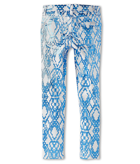 7 For All Mankind Kids - The Skinny Jean in Ethnic Geo Blue (Little Kids) (Ethnic Geo Blue) Girl