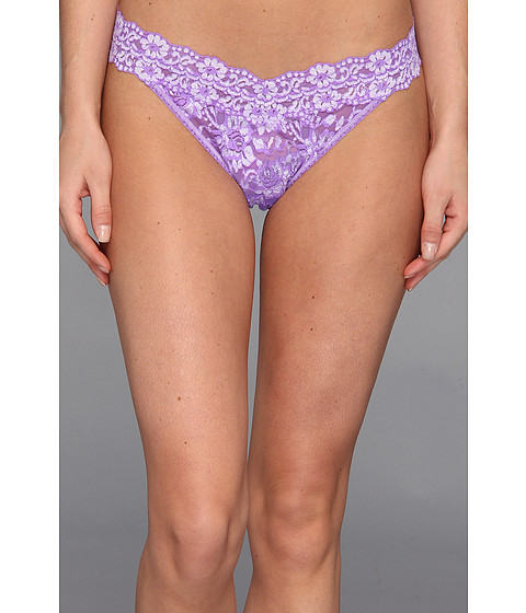 Hanky Panky - Cross-Dyed Signature Lace Original Rise Thong (Electric Orchid/White) Women