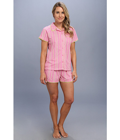 Carole Hochman - Birds of Paradise Short Pajama (Wallpaper Ditsy Pink) Women's Pajama Sets