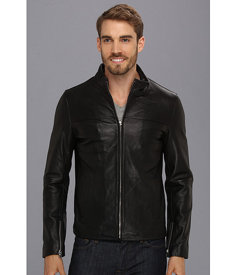 7 Diamonds - Chevelle Leather Jacket (Black) Men's Jacket