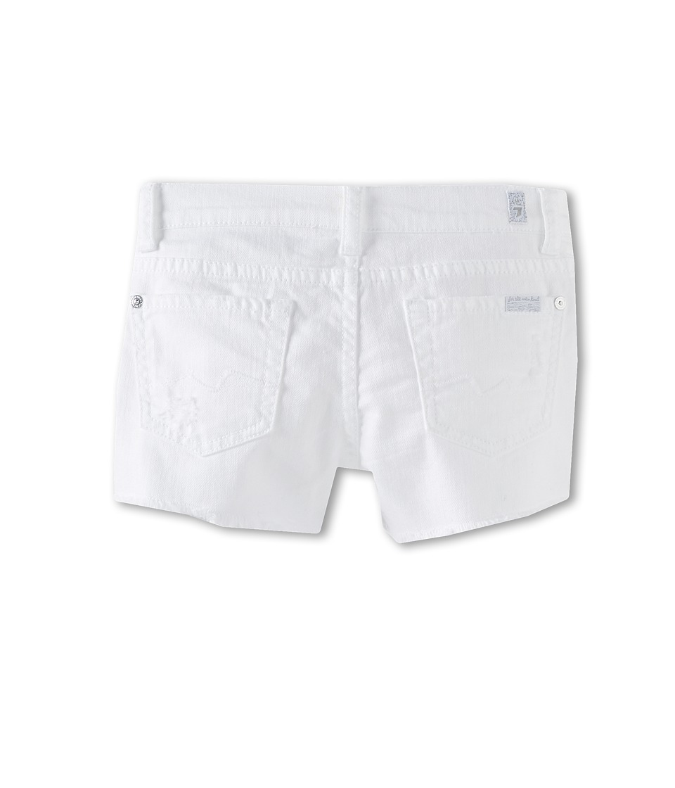 7 For All Mankind Kids - Short in Clean White (Little Kids) (Clean White) Girl's Shorts