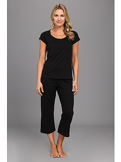 SALE! $25.99 - Save $14 on Kenneth Cole Reaction Fundamental Henley Capri Set (Black) Apparel - 35.03% OFF $40.00