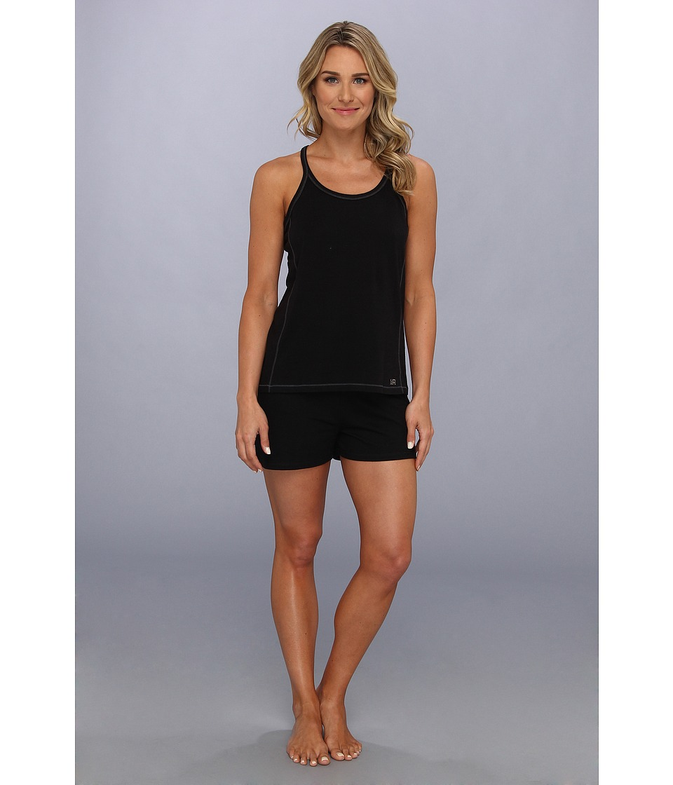 Kenneth Cole Reaction Fundamental Tank Short Set Womens Pajama Sets (Black)