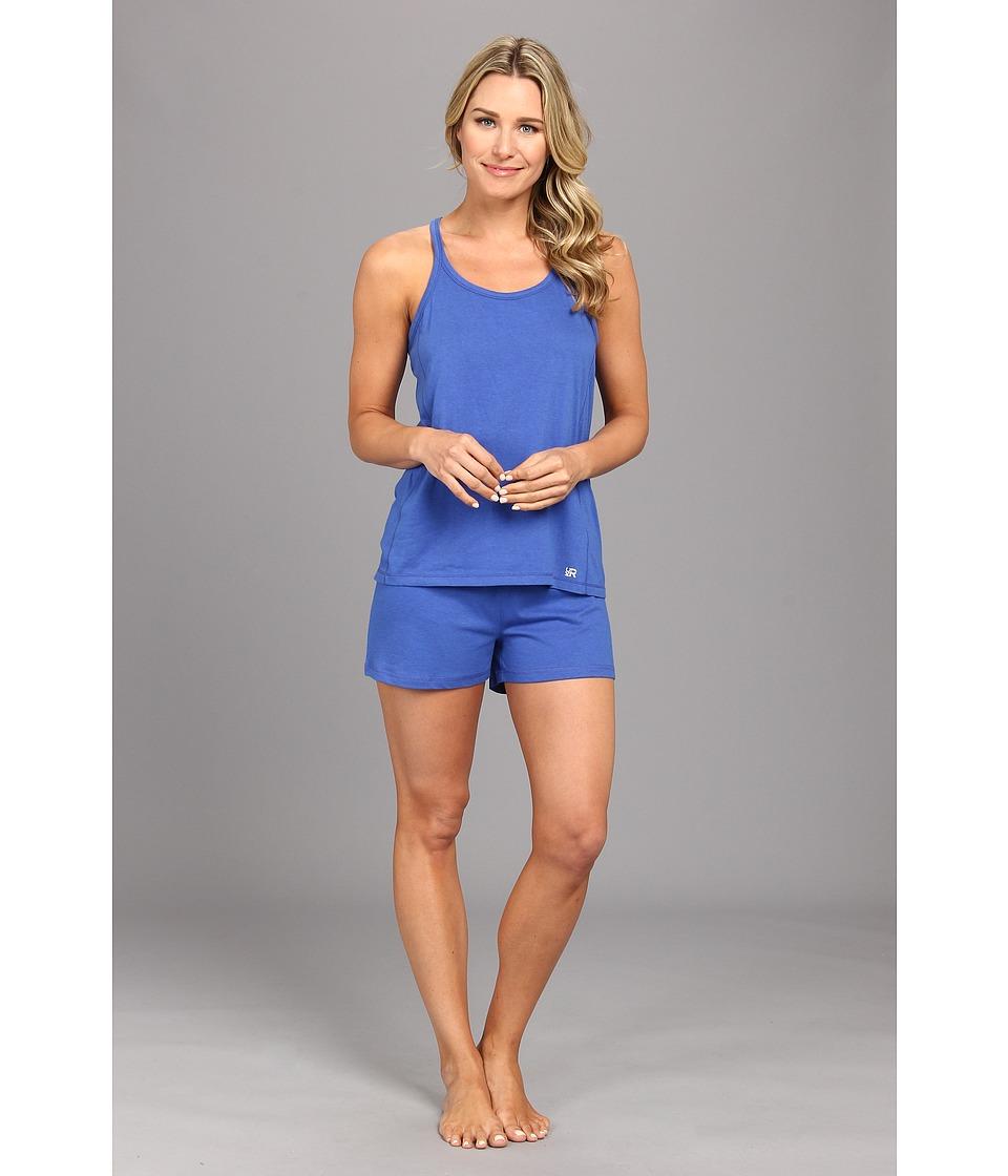 Kenneth Cole Reaction Fundamental Tank Short Set Womens Pajama Sets (Blue)