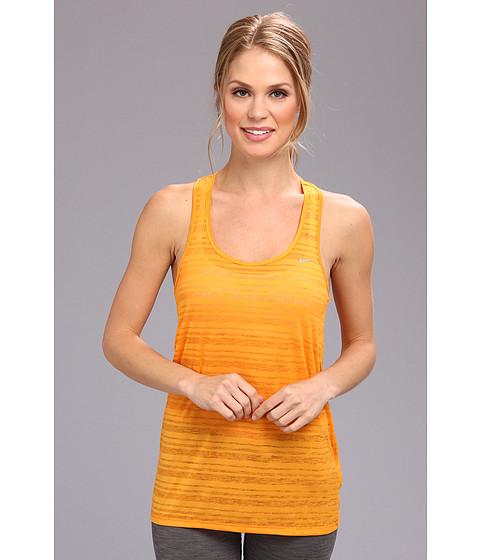 Nike - Dri-Fit Touch Breeze Stripe Tank Top (Kumquat/Reflective Silver) Women's Sleeveless