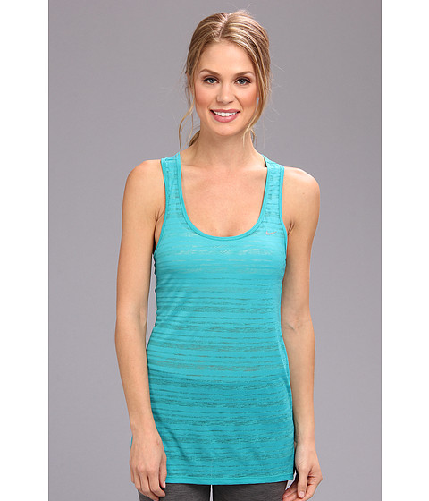 Nike - Dri-Fit Touch Breeze Stripe Tank Top (Turbo Green/Reflective Silver) Women's Sleeveless