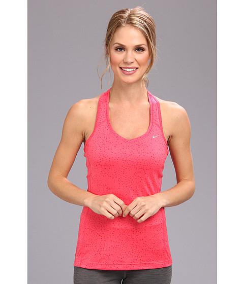 Nike - Printed Miler Tank Top (Geranium/Reflective Silver) Women's Sleeveless