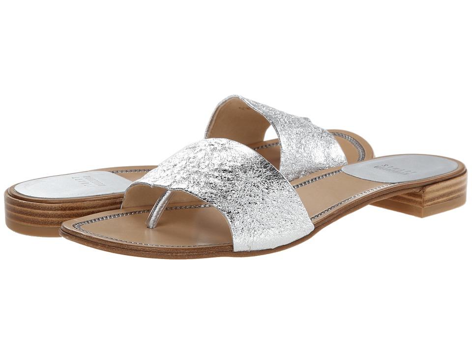 Stuart Weitzman - Slip N Slide (Silver Foil Nappa) Women's Shoes