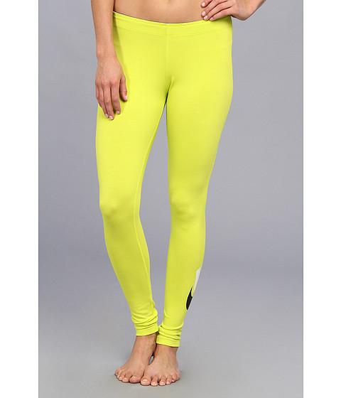 Discount clothing stores Nike Leg-A-See Logo Legging (Venom Green) Women's Clothing