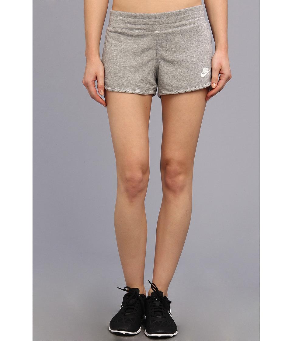 Nike - Three-D Short (Dark Grey Heather/White) Women's Shorts