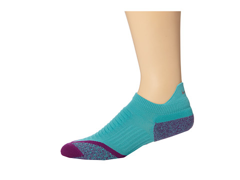 Nike - Elite Running Cushion No Show Tab 1-Pair Pack (Sport Turquoise/Bright Grape/Bright Grape) No Show Socks Shoes