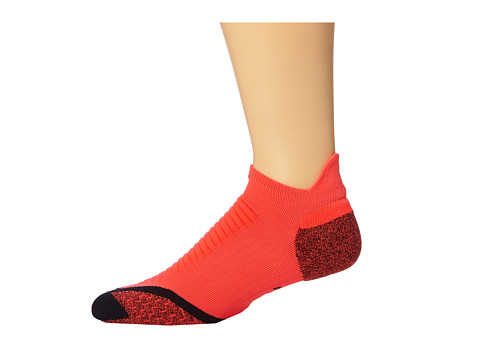 Nike - Elite Running Cushion No Show Tab 1-Pair Pack (Bright Crimson/Black/Black) No Show Socks Shoes