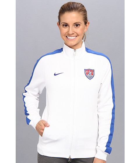 Nike - N98 USA Authentic Track Jacket (White/Game Royal/Game Royal) Women