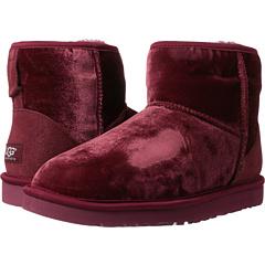 UGG Classic Mini Velvet (Sangria Velvet) Footwear