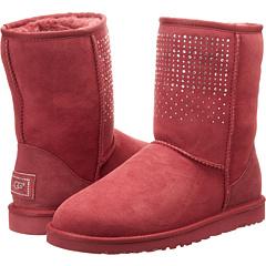 UGG Classic Short Bling (Sangria) Footwear