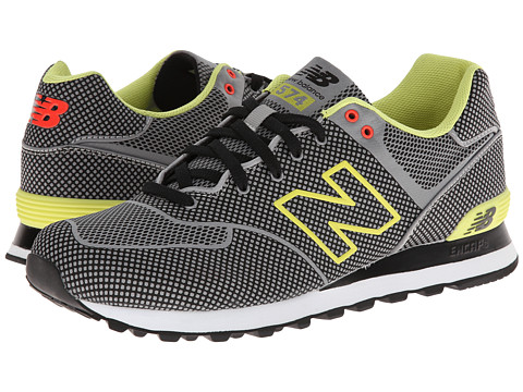 New Balance Classics - ML574-Woven Pack (Grey/Yellow) Men's Classic Shoes